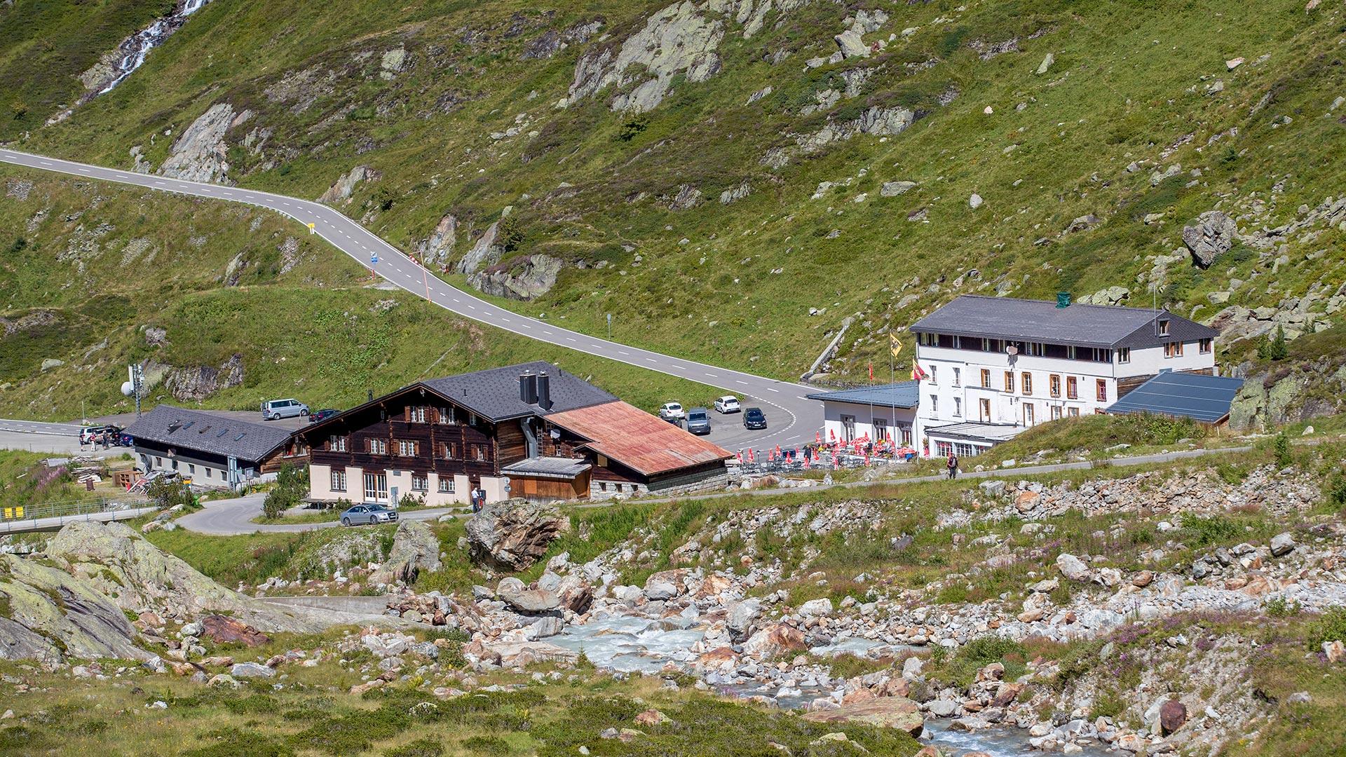 Auf der Passhöhe des Sustenpasses befindet sich das Alpincenter.