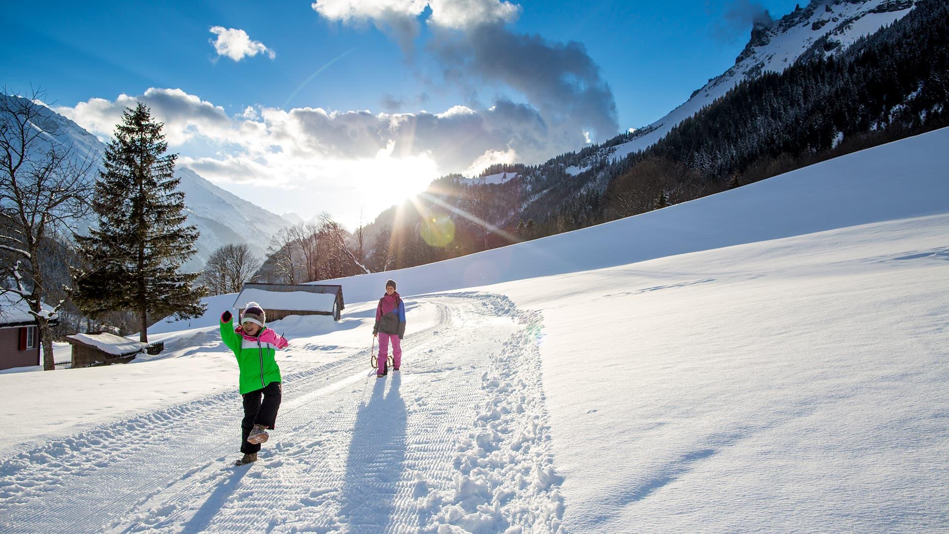 Winterwanderweg Gadmen
